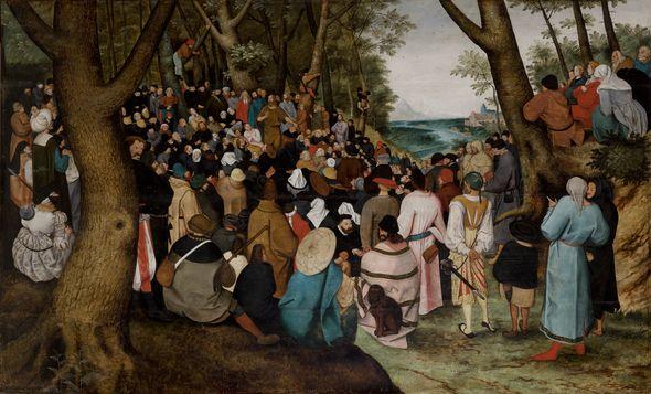 """Pieter Brueghel Młodszy """"Kazanie św. Jana Chrzciciela"""""""