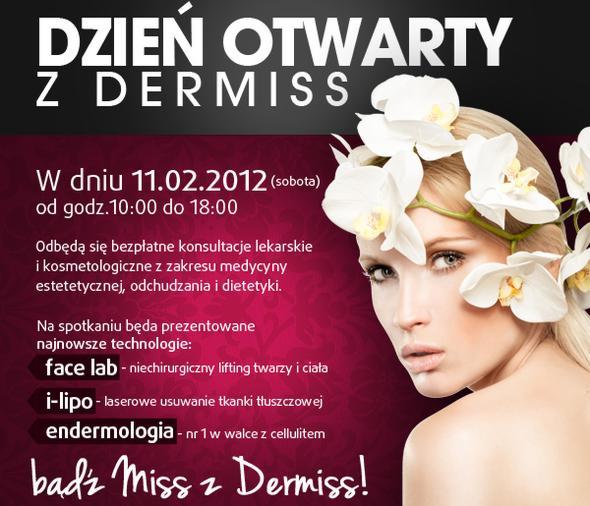 Akademia Urody Dermiss zaprasza na bezpłatne konsultacje lekarskie oraz kosmetologiczne - Dzień Otwarty 11 lutego - bądź Miss z Dermiss! - spa-za-darmo