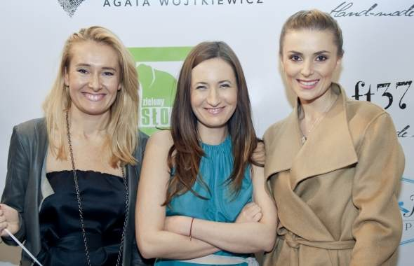 Halina Mlynkowa oraz projektantki Paulina Ada Kalinska i Joanna Trepka.