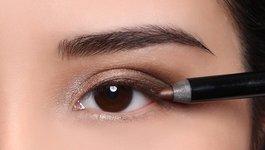 krok piąty - nałożenie wodoodpornego ołówka((Aqua Eye 1L)i wodoodpornej maskary(Aqua Smoky Lash)