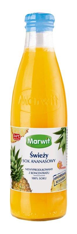 Świeży sok ananasowy firmy Marwit