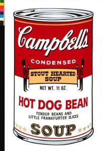Puszki z zupa Campbell II 1969