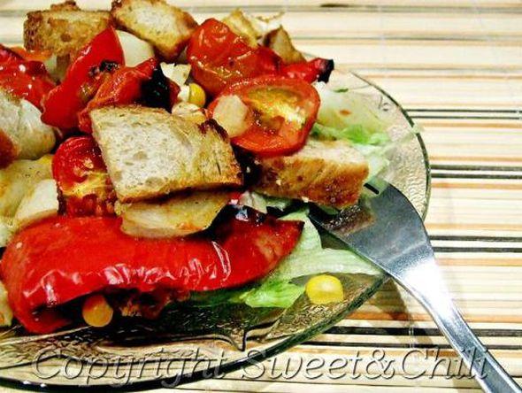 sweet and chili-sałatka z pieczoną papryką