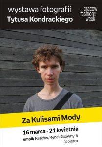 """Wystawa """"Za kulisami mody"""" Tytus Kondracki"""