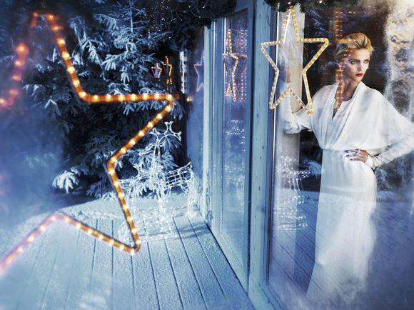 Anja Rubik i Sasha Knezevic w świątecznej kampanii reklamowej APART