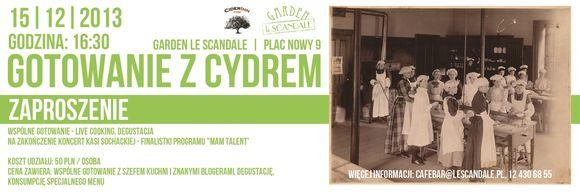 Gotowanie z CYDREM w Garden Le Scandale