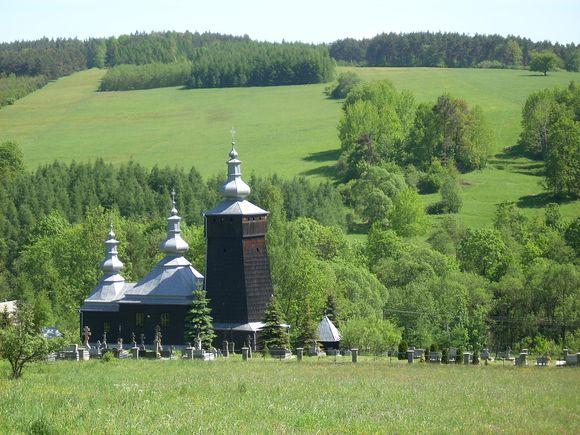 Cerkiew greckokatolicka św. Łukasza Ewangelisty w Leszczynach  / fot. Magdalena Bogdan