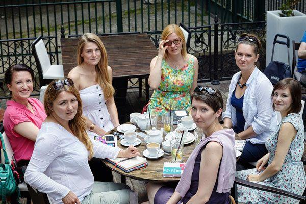 Na zdjęciu (od lewej): Violetta Kilian-Grzelka, Anna Protas, Maria Kula, Katarzyna Bruzda-Lecyk, Aleksandra Budzyńska, Anna Królikowska oraz Magdalena Grabda-Arendarczyk / fot. Barbara Bogacka
