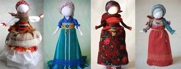 Na warsztatach nauczysz się robić lalki słowiańskie i wyjdziesz z gotową Zadanicą. Na zdjęciu Zadanice wykonane przez Anetę Grzegorzewską, prowadzącą warsztaty (fot. Aneta Grzegorzewska)