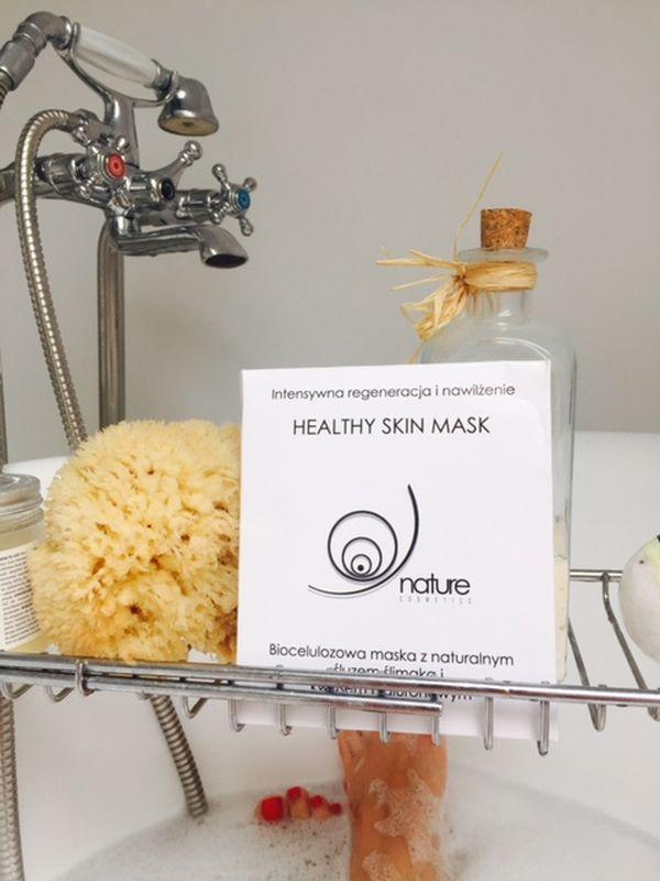 biocelulozowa maska ze śluzem ślimaka nature cosmetics
