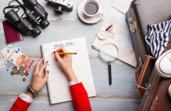 podróżowanie plan wakacje lista