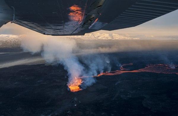erupcja wulkanu Holuhraun / fot. Marta Magdalena Niebieszczańska