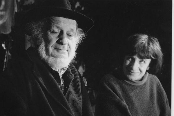Piotr Skrzynecki i Janina Garycka (1993 rok) / fot. Zbigniew Łagocki