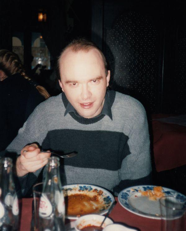 Tomasz Beksiński w restauracji Pekin, 1994 / fot. archiwum prywatne K. Konopy
