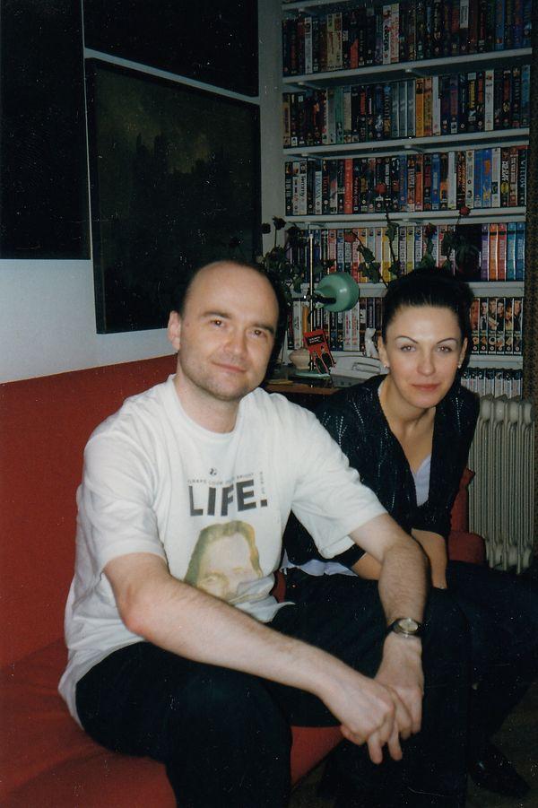 Autorka i Tomek Beksiński, maj 1999 / fot. archiwum prywatne K. Konopy