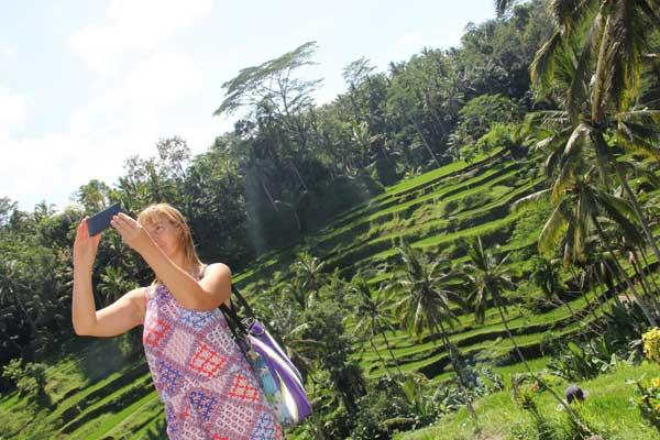Tarasy ryżowe niedaleko Ubud