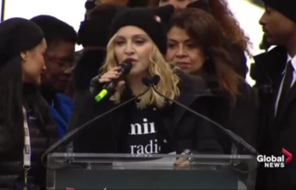 madonna women's march on washington_r yt screen