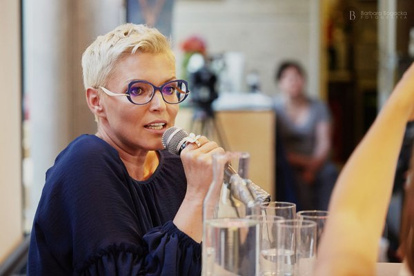 Ilona Felicjańska na spotkaniu KMK / fot. B. Bogacka