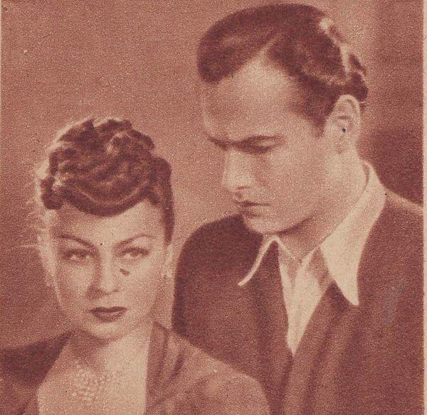 """Danuta Szaflarska i Jerzy Duszyński w sztuce ,,Spotkania"""" /fot. Wikipedia"""
