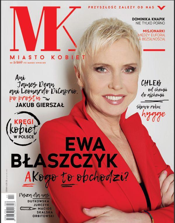 """Ewa Błaszczyk na okładce marcowo-czerwcowego numeru """"Miasta Kobiet"""""""