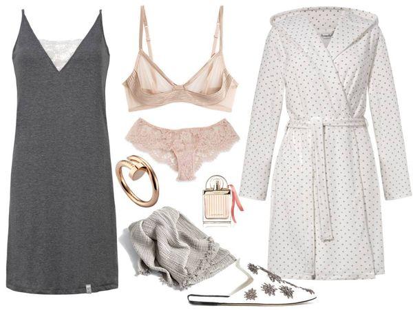 Koszula nocna i szlafrok– DN-NIGHTWEAR/sklep.dn-nightwear.com.pl, dodatki - TKMAXX / fot. materiały prasowe