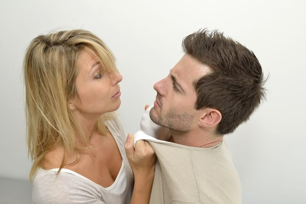 Woman being mad at boyfriend