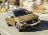 Mercedes-Benz GLA 220d 4MATIC, canyonbeige, Fahraufnahme ;Kraftstoffverbrauch kombiniert: 4,8 l/100 km, CO2-Emissionen kombiniert: 127 g/km
