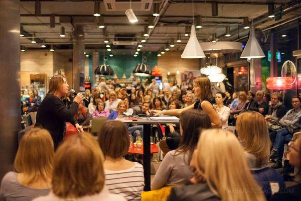 Joanna Hussakowska w rozmowie z Anetą Pondo / fot. B. Bogacka