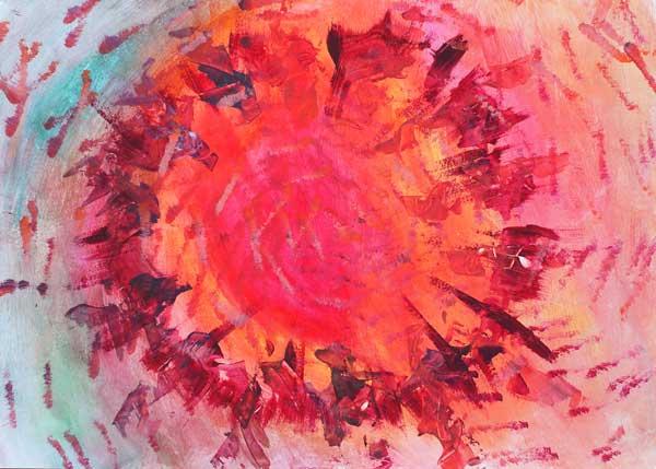 obraz: Krąg Kobiet / autor: Aneta Pondo / wymiary: 70x50 cm / technika: akryl na papierze