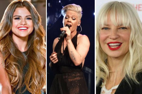 Selena Gomez, Pink czy SIA – która artystka będzie najczęściej grana w rozgłośniach? / fot. kolaż/Wikipedia
