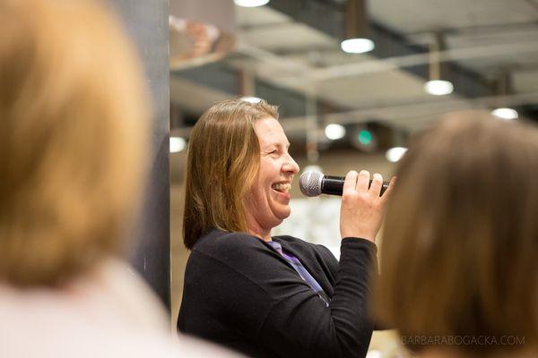 Joanna Hussakowska podczas 14. spotkania Klubu Miasta Kobiet / fot. B. Bogacka