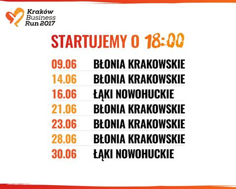 Plan treningowy do KBR / źródło: Facebook:KrakowBusinessRun