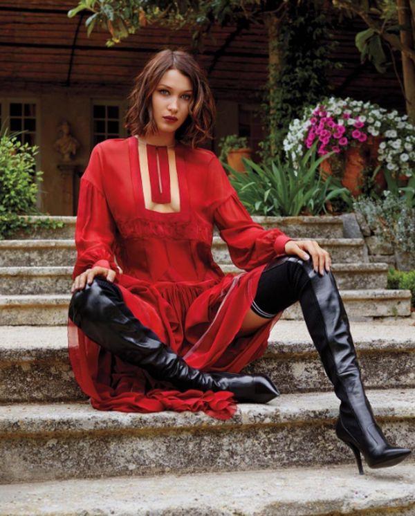 Bella Hadid w kreacji Fendi dla magazynu InStyle Kacper Kasprzyk/ instagram.com