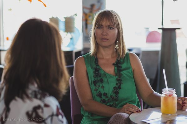 Aneta Pondo w rozmowie z Barbarą Kohlbrenner / fot. Barbara Bogacka
