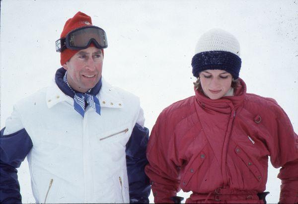 Diana i Karol podczas wspólnego wypadu na narty / fot. Anwar Hussein