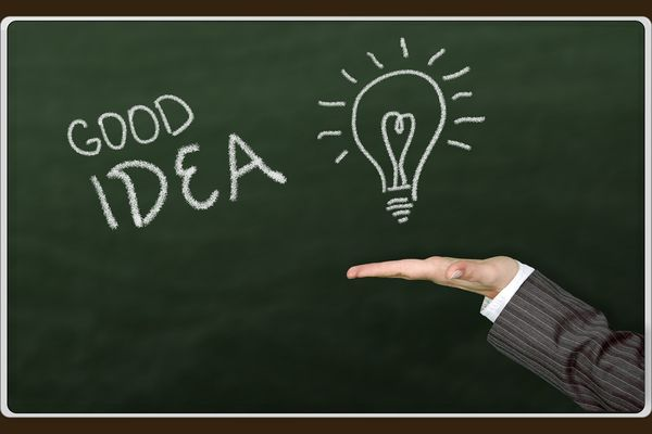 tablica, pomysł, myśl