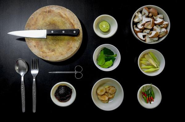 narzędzia kuchenne, kuchnia, sztućce, nóż, widelec, zastawa, organizer