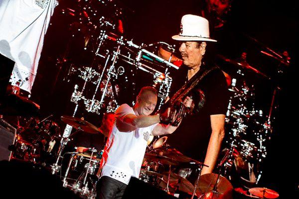 Darek Maciborek i Carlos Santana