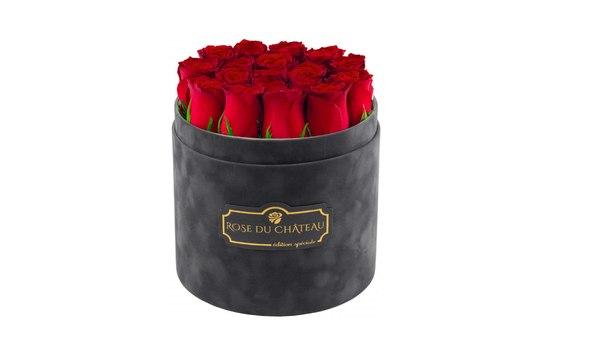 kwiaty w pudełku, róże, prezent
