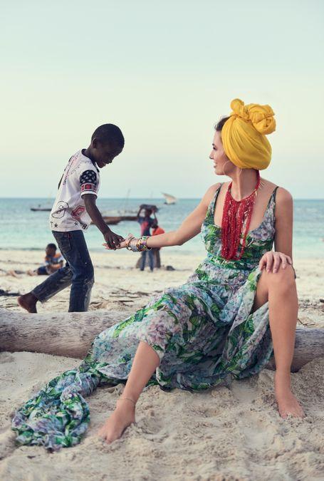 Sesja promująca Indigo Nails na Zanzibarze z Agnieszką Hyży