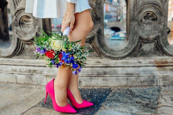 Buty na obcasie w kolorze fuksji