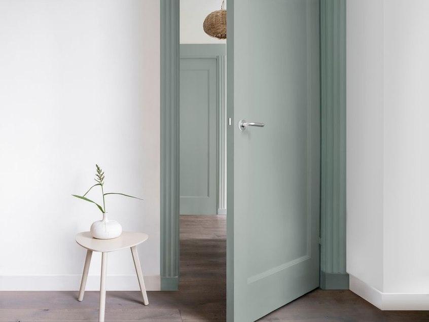 drzwi, malowanie, lakierobejca, dom