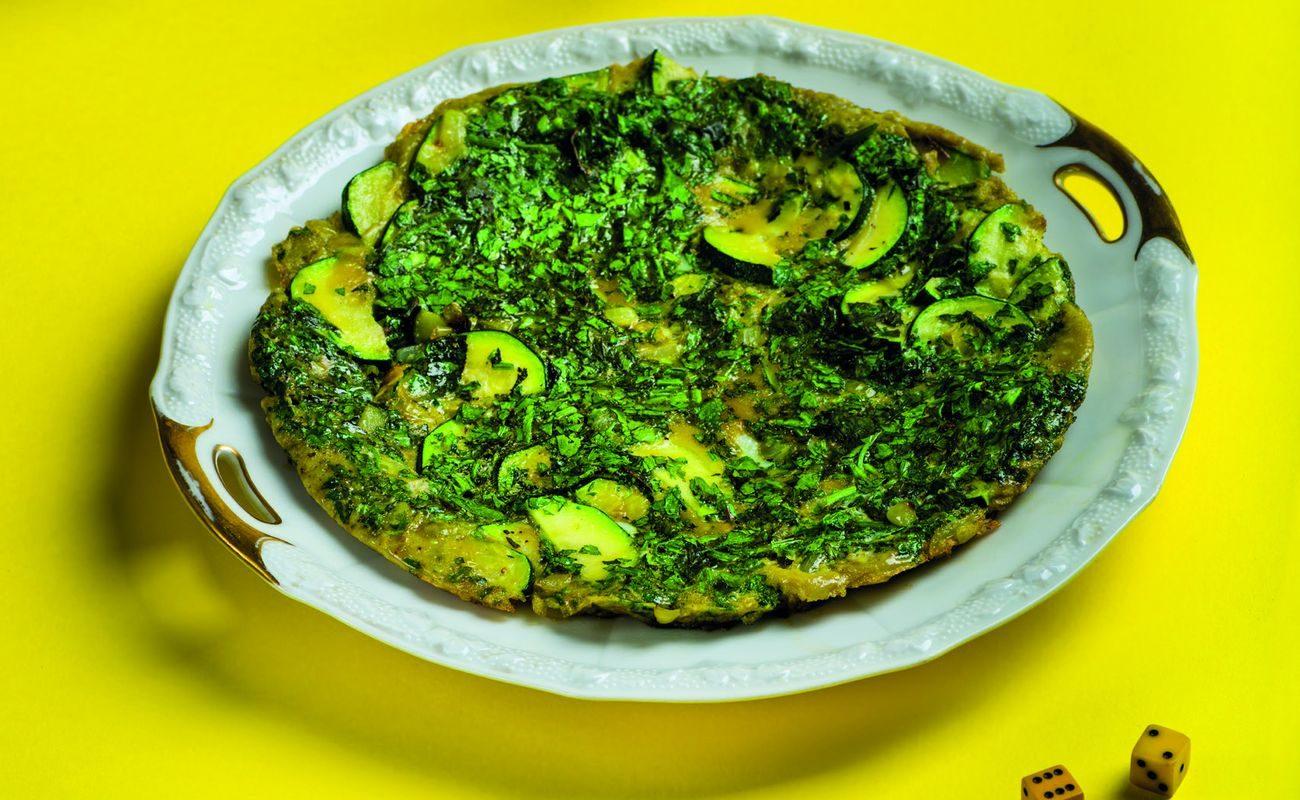 Libański zielony omlet receptury Kasi i Zosi Pilitowskich