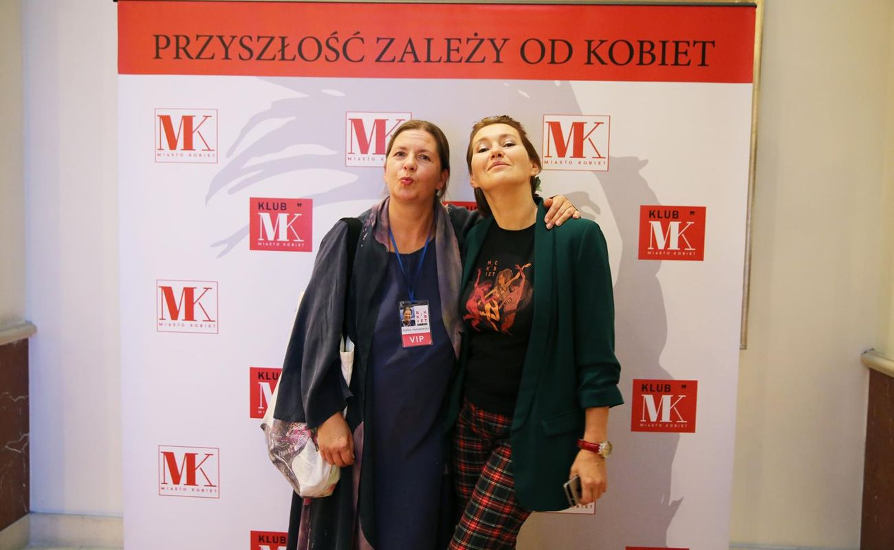 Od lewej: Joanna Hussakowska i Aneta Pondo podczas Festiwalu Rok Kobiet 2018