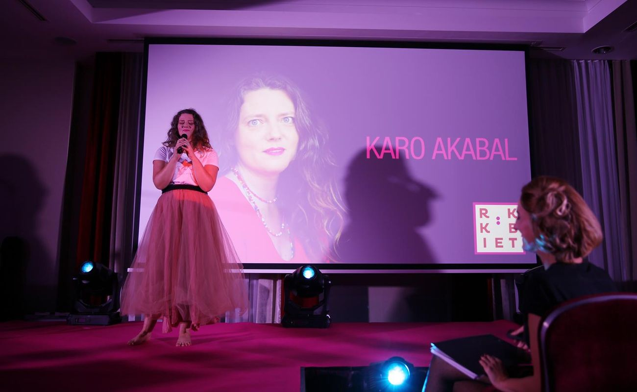 Karo Akabal podczas Festiwalu Rok Kobiet 2018