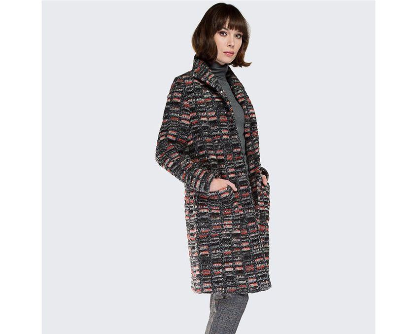 Multikolorowy płaszcz od Wittchen