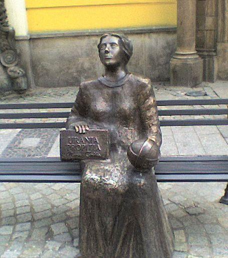 Ławka z rzeźbą Marii Cunitz