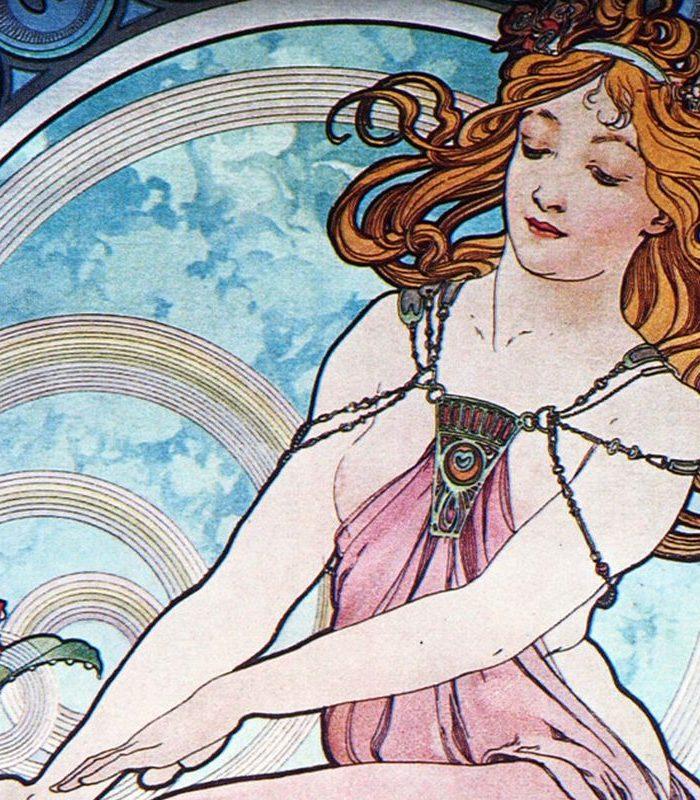 Obraz kobiety w stylu art nouveau