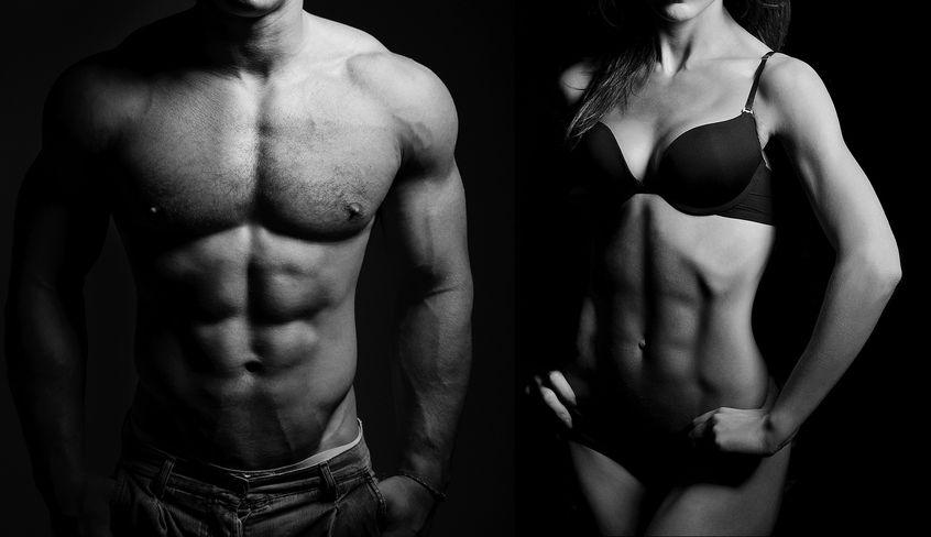 Kobieta i mężczyzna bez tkanki tłuszczowej