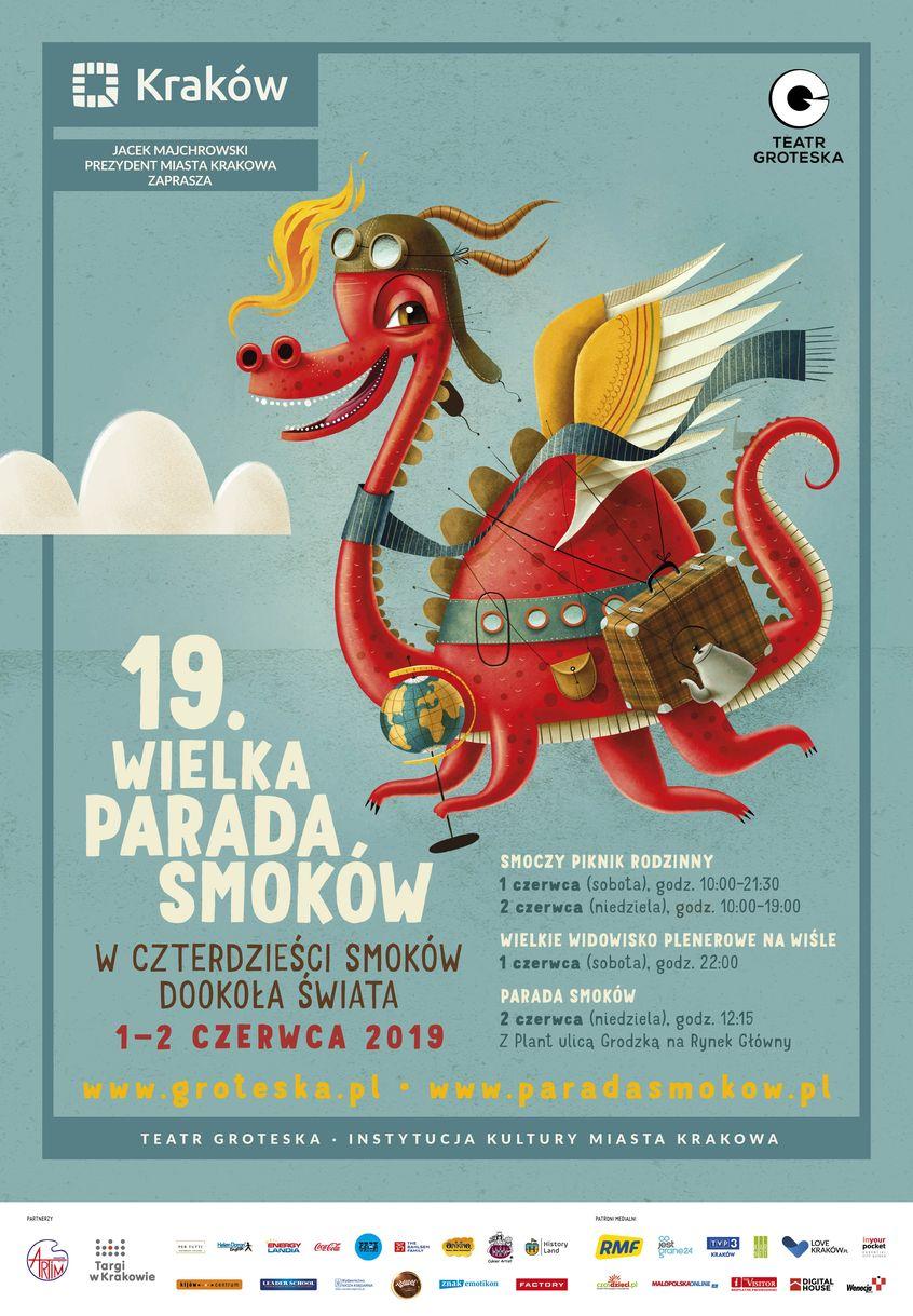 plakat Wielkiej Parady Smoków